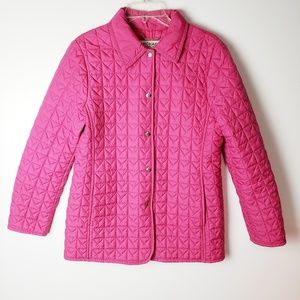 Michael Kors Pink Quilted Coat Size M